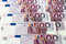 Stock Image : Bunch of  500 euro banknotes (horizontal)