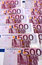 Stock Image : Bunch of 500 euro banknotes (vertical)