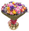 Stock Image : Bunch of flowers in glass bowl isolated