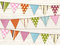 Stock Image : Bunting background one white wood