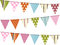 Stock Image : Bunting background on white