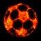 Stock Image : Burning soccer football ball