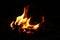 Stock Image : Burning wood