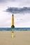 Stock Image :  Burzowy niebo nad plażą