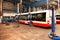 Stock Image : Buses in workshops in Depot Hostivar, Prague