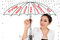 Stock Image : Business umbrella concept