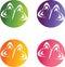 Stock Image : Butterflies logos