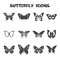 Stock Image : Butterfly icons