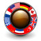 Stock Image : Button with flags around