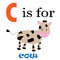 Stock Image : C is for Cow