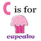 Stock Image : C is for Cupcake