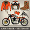 Stock Image : Cafe Racer Vector Set
