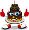 Stock Image : Cake cartoon thumb up