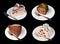 Stock Image : Cakes isolated on black
