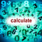 Stock Image : Calculation Mathematics Represents One Two Three And Maths