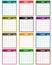 Stock Image : Calendar 2014 assorted colors