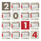 Stock Image : A 2014 calendar