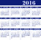 Stock Image : Calendar for the year 2016