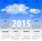 Stock Image : Calendar for 2015 year in Spanish with clouds