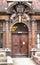 Stock Image : Cambridge University Door with Coat of Arms