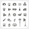 Stock Image : Camera icons and Camera Accessories icons set