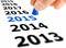 Stock Image :  Camine en el Año Nuevo 2015