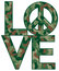 Stock Image :  Camo Love=Peace