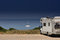Stock Image : Camper van on the beach