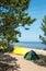 Stock Image : Camping site at Ladog lake