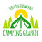 Stock Image : Camping tent graphic