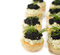 Stock Image : Canape with caviar