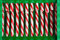 Stock Image : Candy canes in green pack