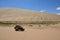 Stock Image : Car in desert