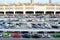 Stock Image : Car parking straight angle