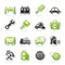 Stock Image : Car service maintenance icons