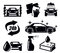 Stock Image : Car wash icons