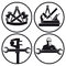 Stock Image : Carpentry and tool symbols