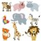 Stock Image : Cartoon african animals set