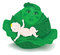Stock Image : Cartoon baby in the cabbage