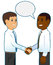 Stock Image : Cartoon Businessmen
