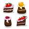 Stock Image : Cartoon cakes