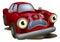 Stock Image : Cartoon car broken down