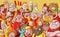 Stock Image : Cartoon crowd
