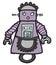 Stock Image : Cartoon maid robot
