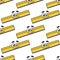 Stock Image : Cartoon ruler seamless pattern