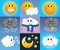 Stock Image : Cartoon weather symbols