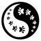 Stock Image : Cat paw print yin yang