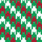 Stock Image : CatsTooth Christmas Pattern