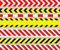 Stock Image : Caution Tapes and Warning Signs, SEAMLESS Stripes