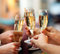 Stock Image : Celebration. People holding glasses of champagne